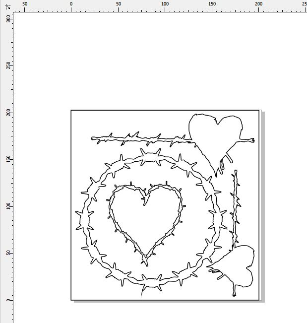 BARB WIRE HEARTS AND FRAMES 200 X 200