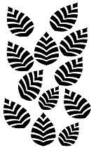 OT 010 leaf, Min Buy 3, 110 x 180mm, Stencil,Masks,Templates,