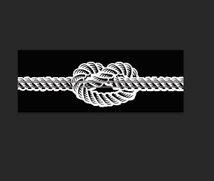 Knotted rope  180 x 70mm  min buy 3 Individually packed