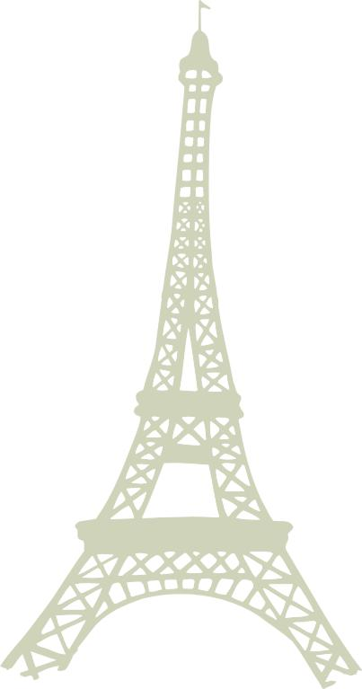 **Eiffel Tower 125mm x 238mm Lge