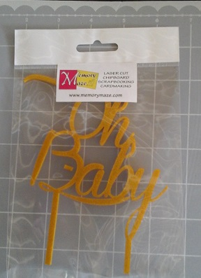 oh baby gold glitterAcrylic  cake topper