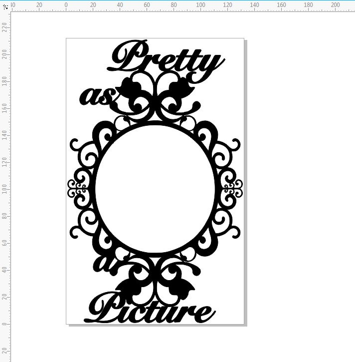 Pretty as a picture Oval ornate frame , 210 x 130 mm