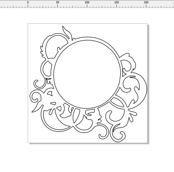 Round flourish frame 200 x 200 mm min buy 3  200 x 200