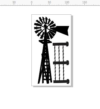windmill and barb wire fence 110 x 202mm min buy 3.