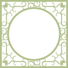 Wrought Iron Frame Tramways chipboard themed overlay sold indivi